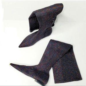 Glitter tights over the knee boots Zara Trafaluc